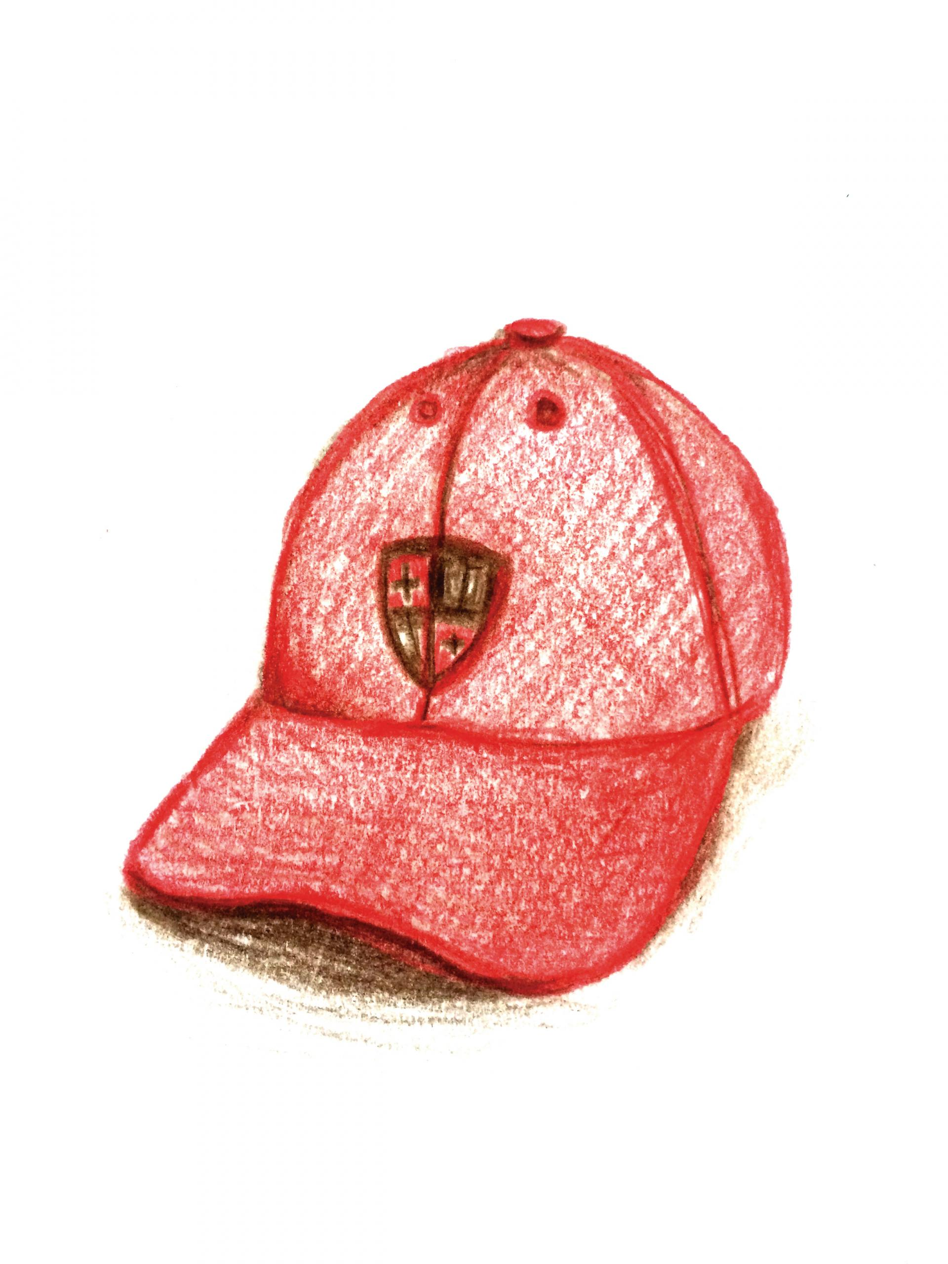 Drawing of a St. Lawrence baseball cap
