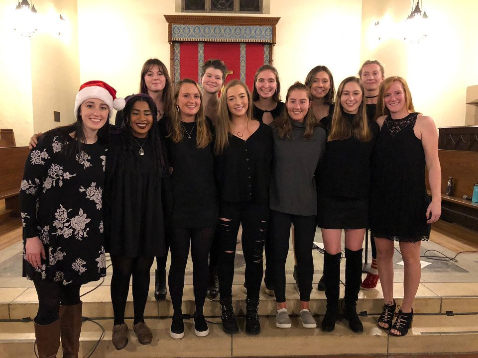The Singing Sinners, an all female a cappella group.