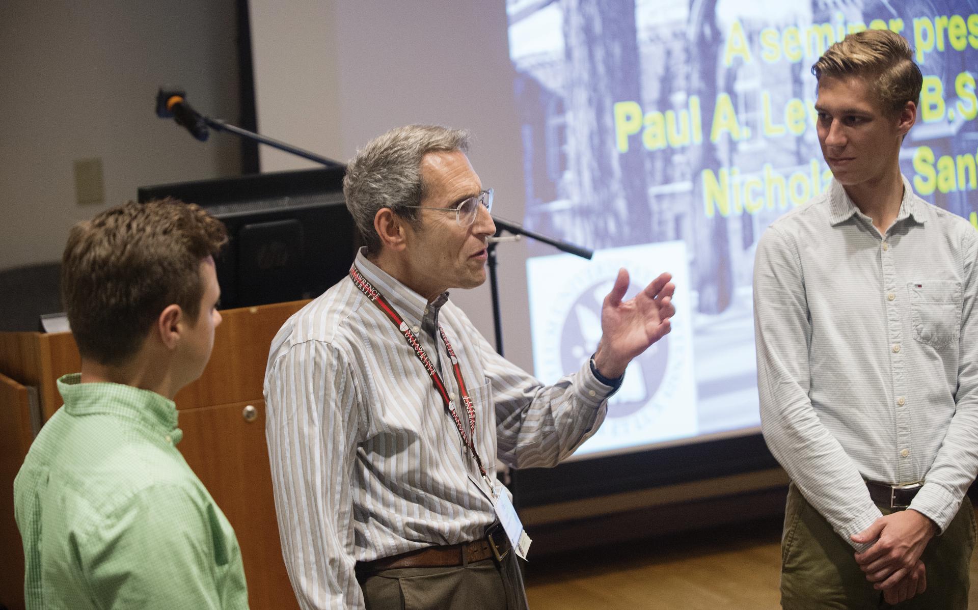 Dr. Paul Levi '62 and Nick Santaro '18