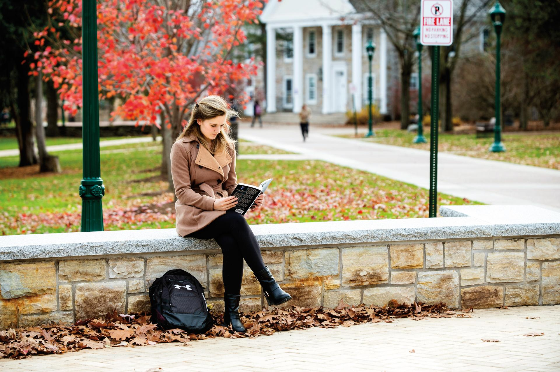 "Part of the ""Gateway to the Quad,"" low stone walls and new walkways invite Laurentians to pause and enjoy the ambience."