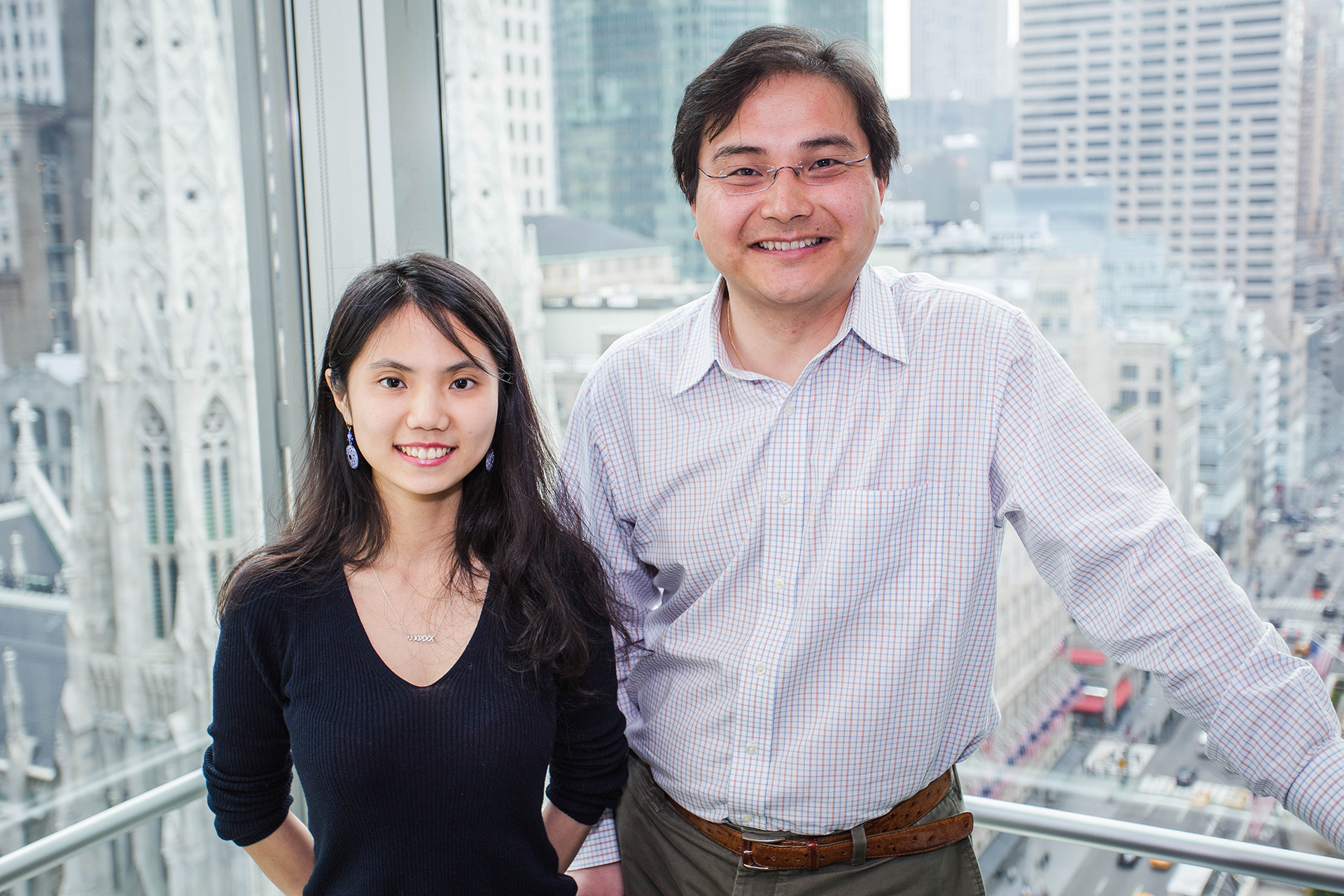 "Zhongxin (Josey) Wang of China worked with St. Lawrence alumnus Zhihong ""Hook"" Huang '02 during her internship with the hedge fund Engineers Gate. (Photo courtesy of Alex Kusak-Smith '12)"