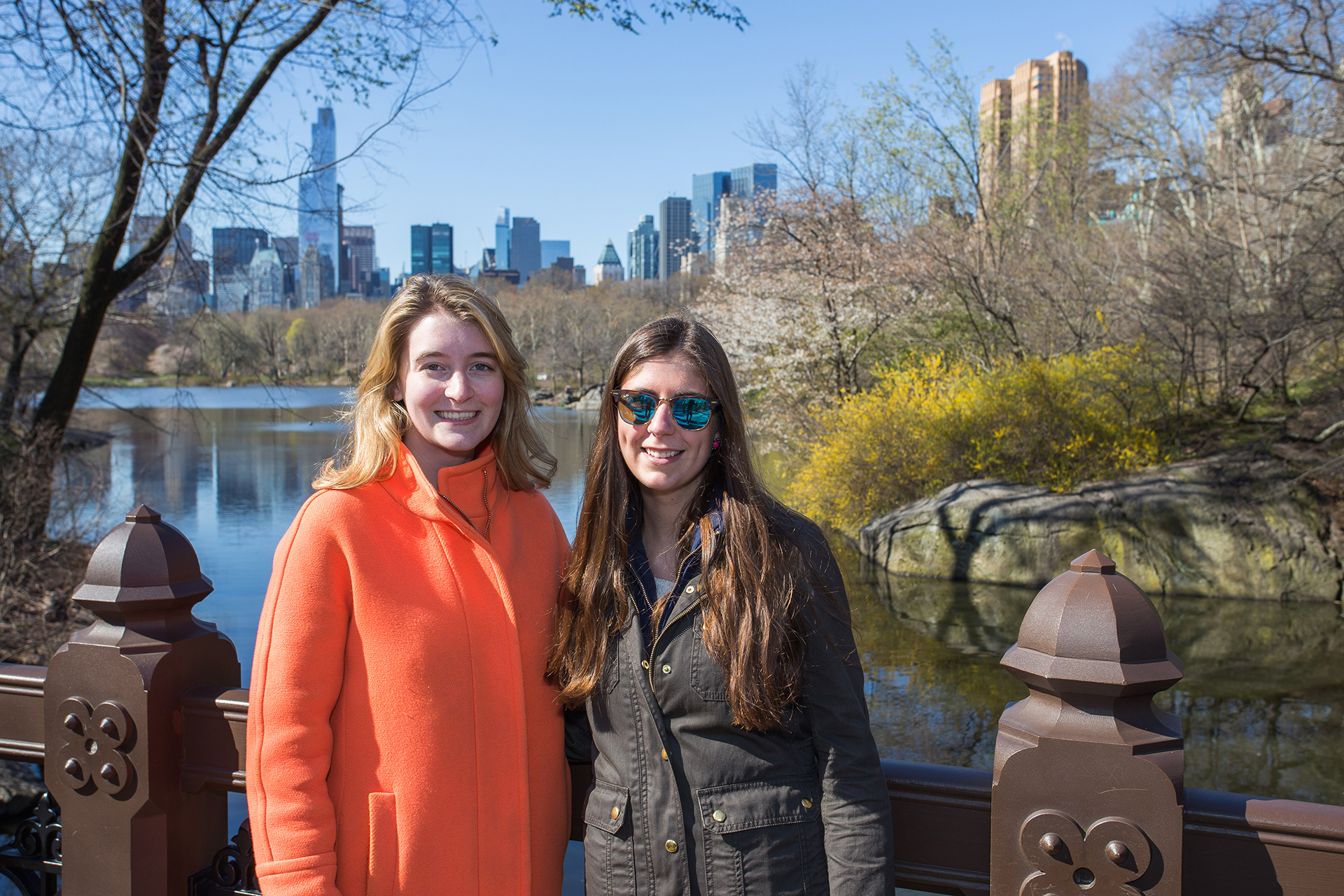 Molli Richards '17 (left) of Massena, NY, interned with the Central Park Conservancy. She is pictured with Lily Barrows '17 of Byfield, MA. (Photo courtesy of Alex Kusak-Smith '12)