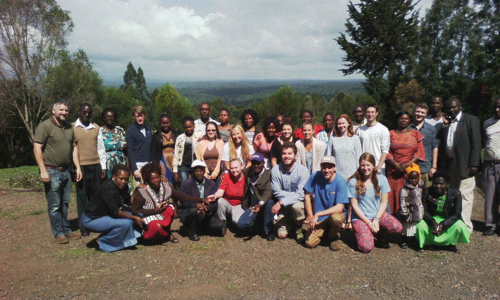 Half of the spring 2016 KSP says goodbye to their rural homestay families after a week of plucking tea and learning about farming in the foothills of the Aberdare Mountains in central Kenya.