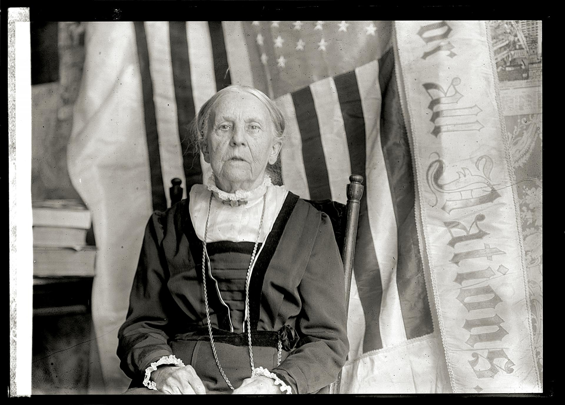 Rev. Olympia Brown, School of Theology Class of 1863, was the first woman to become an ordained minister in the U.S. and an early activist in the women�s suffrage movement. This year marks the 100th anniversary of legalized suffrage in New York State.  Photo: Library of Congress