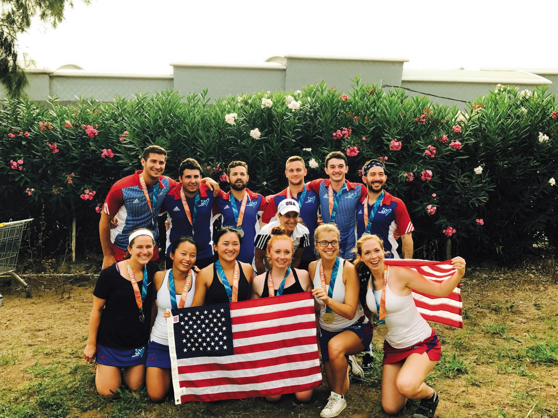 Zoe Kagan '17, far right, with members of Team USA. (Photo: Team USA)