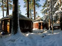 Yurts in winter