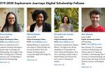 Sophomore Digital Scholarship Fellows