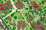 detail of campus map